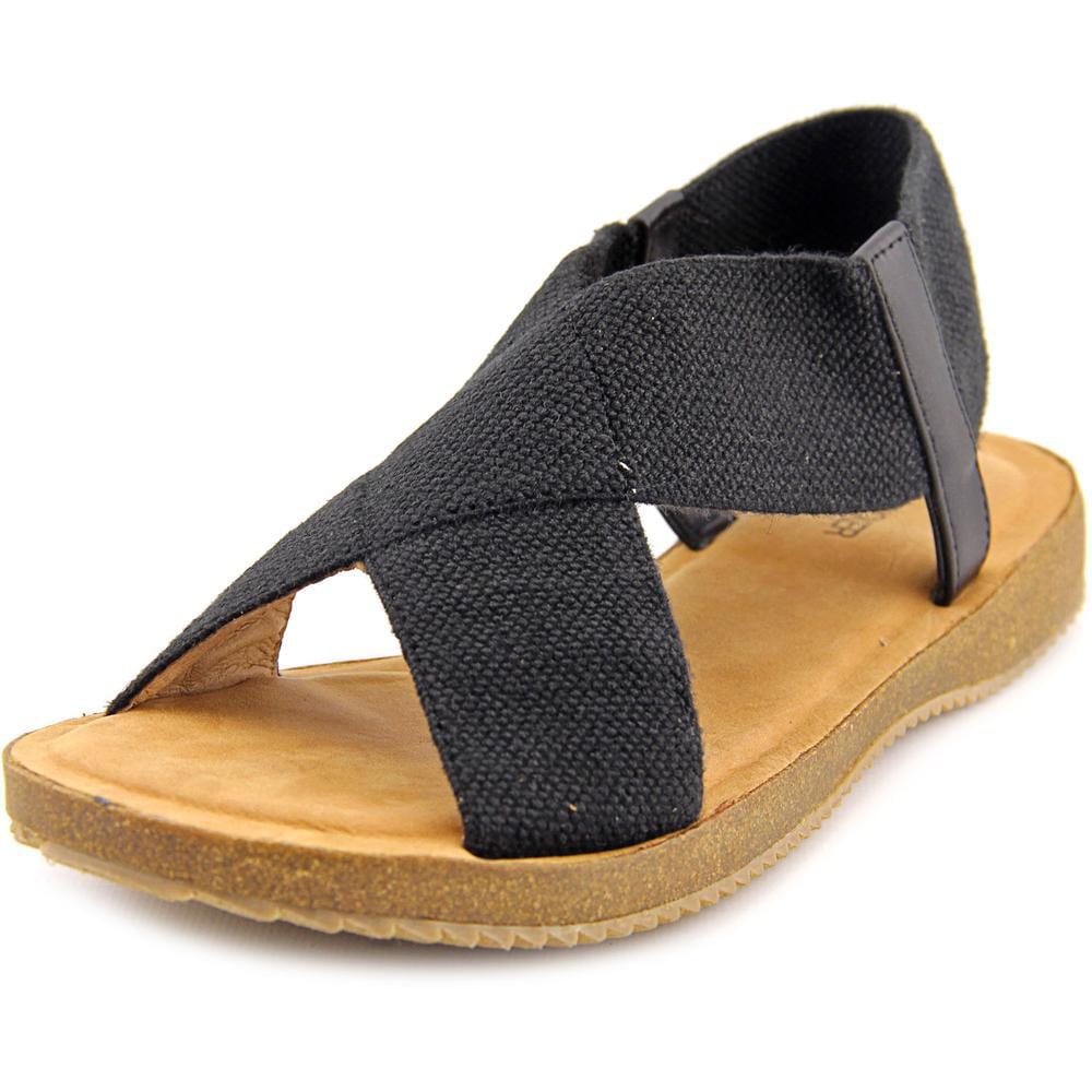 Image of Adam Tucker Amora 15 Women Open-Toe Canvas Black Slingback Sandal