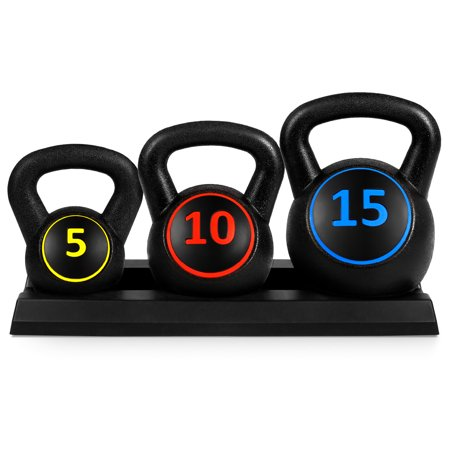 Best Choice Products 3-Piece Kettlebell Set Rack Now $59.99 (Was $89.99)