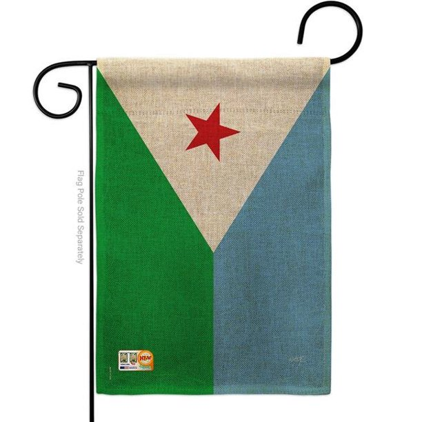 13 X 18 5 In Djibouti Burlap Flags Of The World Nationality Impressions Decorative Vertical Double Sided Garden Flag Walmart Com Walmart Com