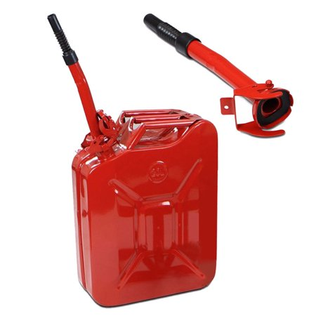 Ktaxon 20L Jerry Can, Gasoline Fuel Can, Steel Gas Tank, Emergency Backup, Red