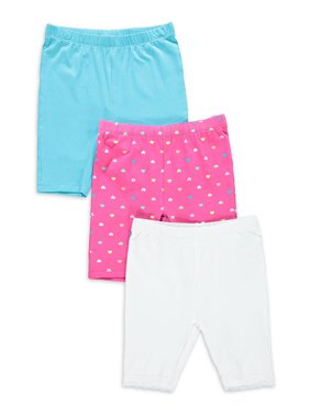 Freestyle Revolution Girls Solid & Printed Bike Shorts, 3-Pack, Sizes 4-12