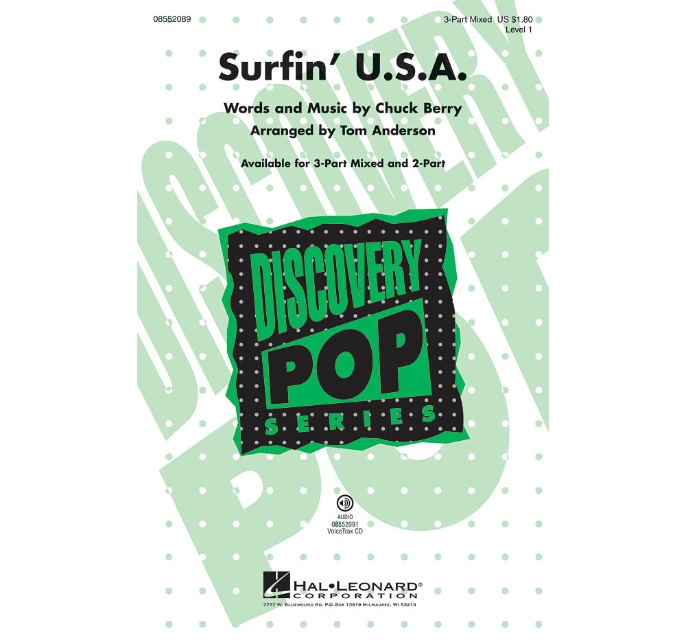 Hal Leonard Surfin' U.S.A. (Discovery Level 1) 2-Part by Beach Boys Arranged by Tom... by