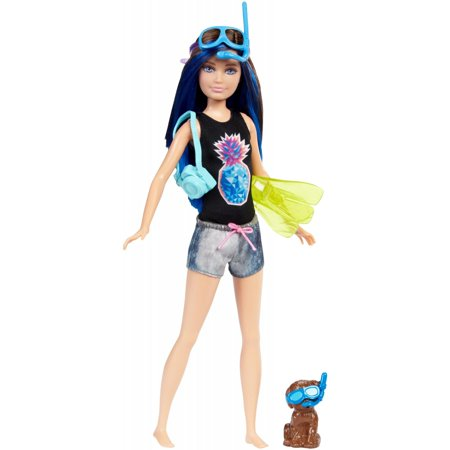 Barbie Dolphin Magic Chelsea Doll with Puppy & Color-Change Snorkel