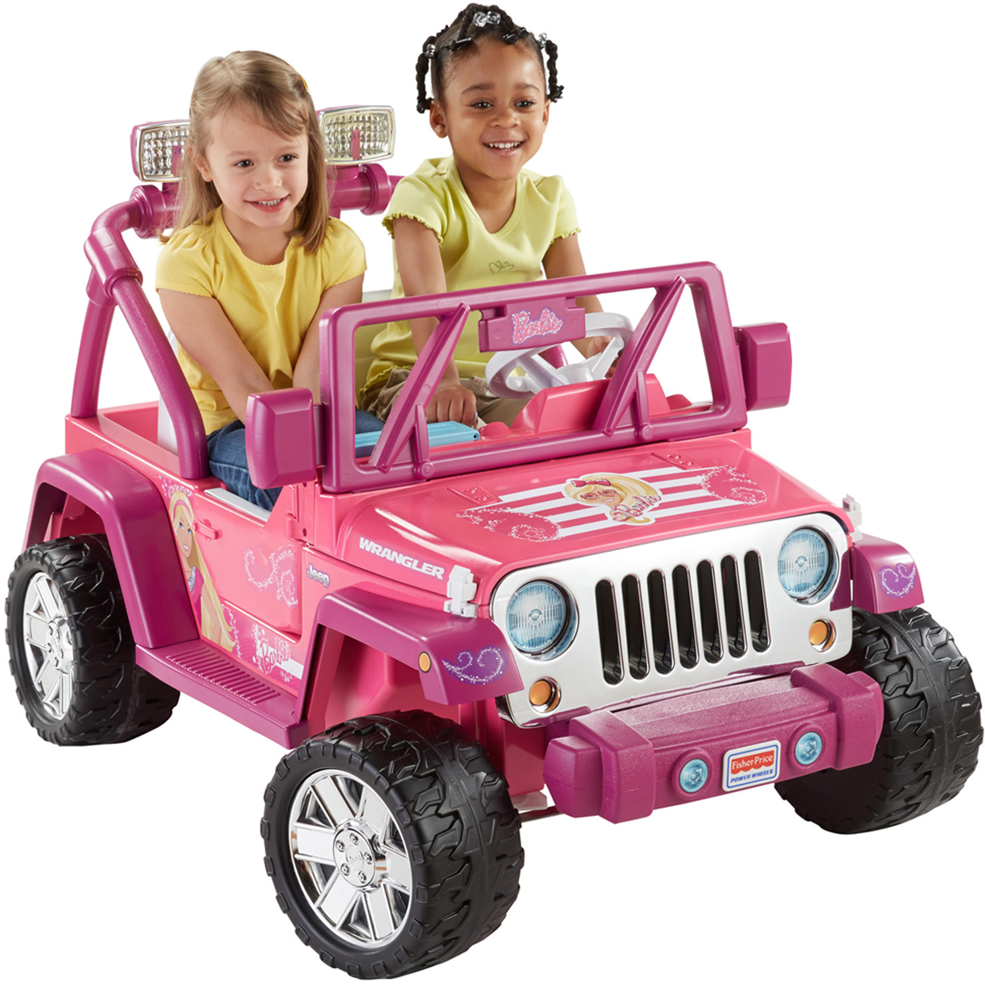 Fisher-Price Power Wheels Barbie Deluxe Jeep Wrangler 12-Volt Battery-Powered Ride-On