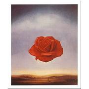 Rose Meditative by Salvador Dali 12x9.5 Art Print Poster