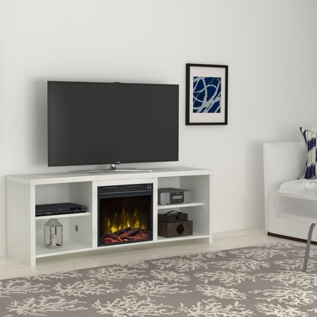 Seasons Glen White Tv Stand For Tvs Up To 65 With An Electric