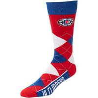 LA Clippers For Bare Feet Team Argyle Crew Socks