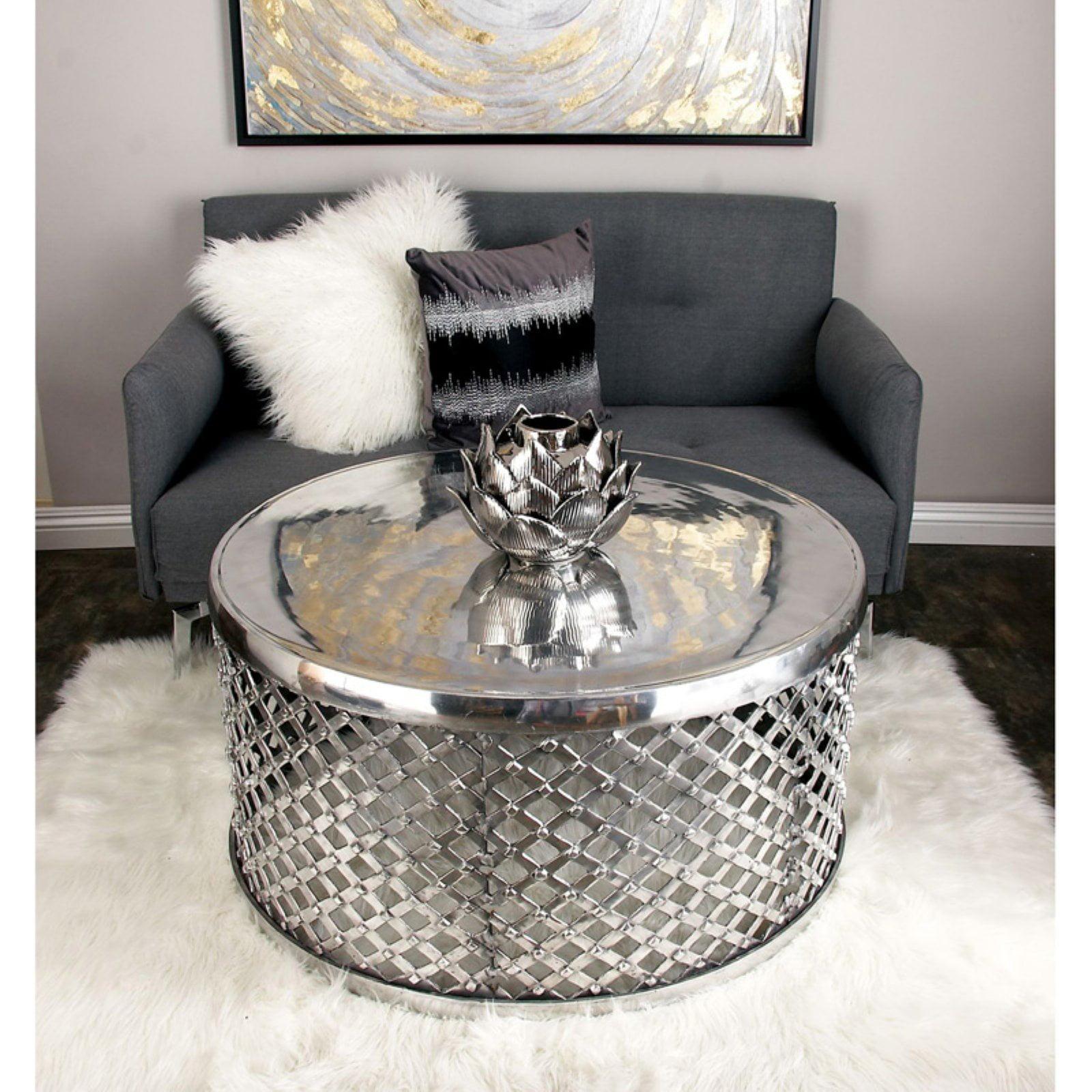 DecMode Aluminum Coffee Table - Nickel