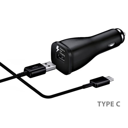 Original Quick Fast USB Car Charger + Type C Cable Compatible with Sony Xperia XA1 Phones - up to 50% Faster Charging - Black - image 3 of 9