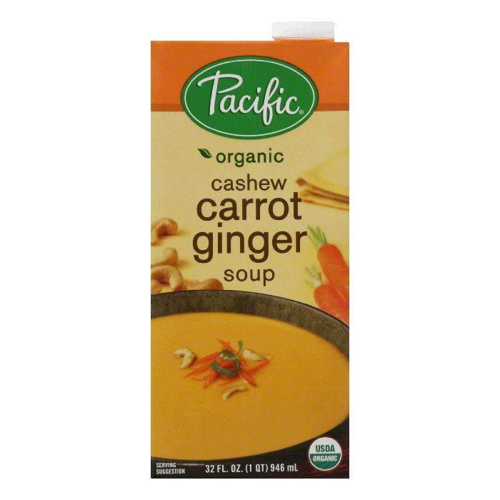 Pacific natural foods natural cashew carrot ginger soup, 32 oz (pack of 12)