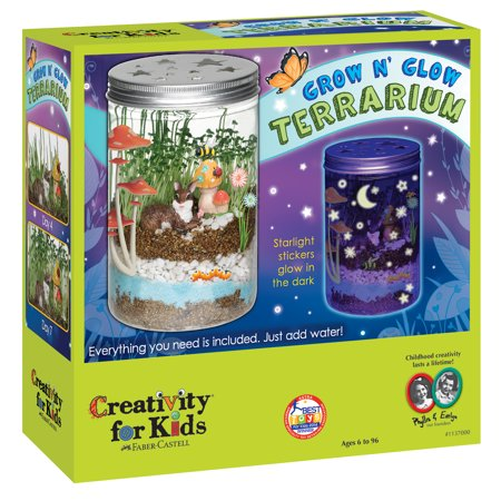 Creativity for Kids Grow N' Glow Terrarium Kit - Children's Christmas Crafts
