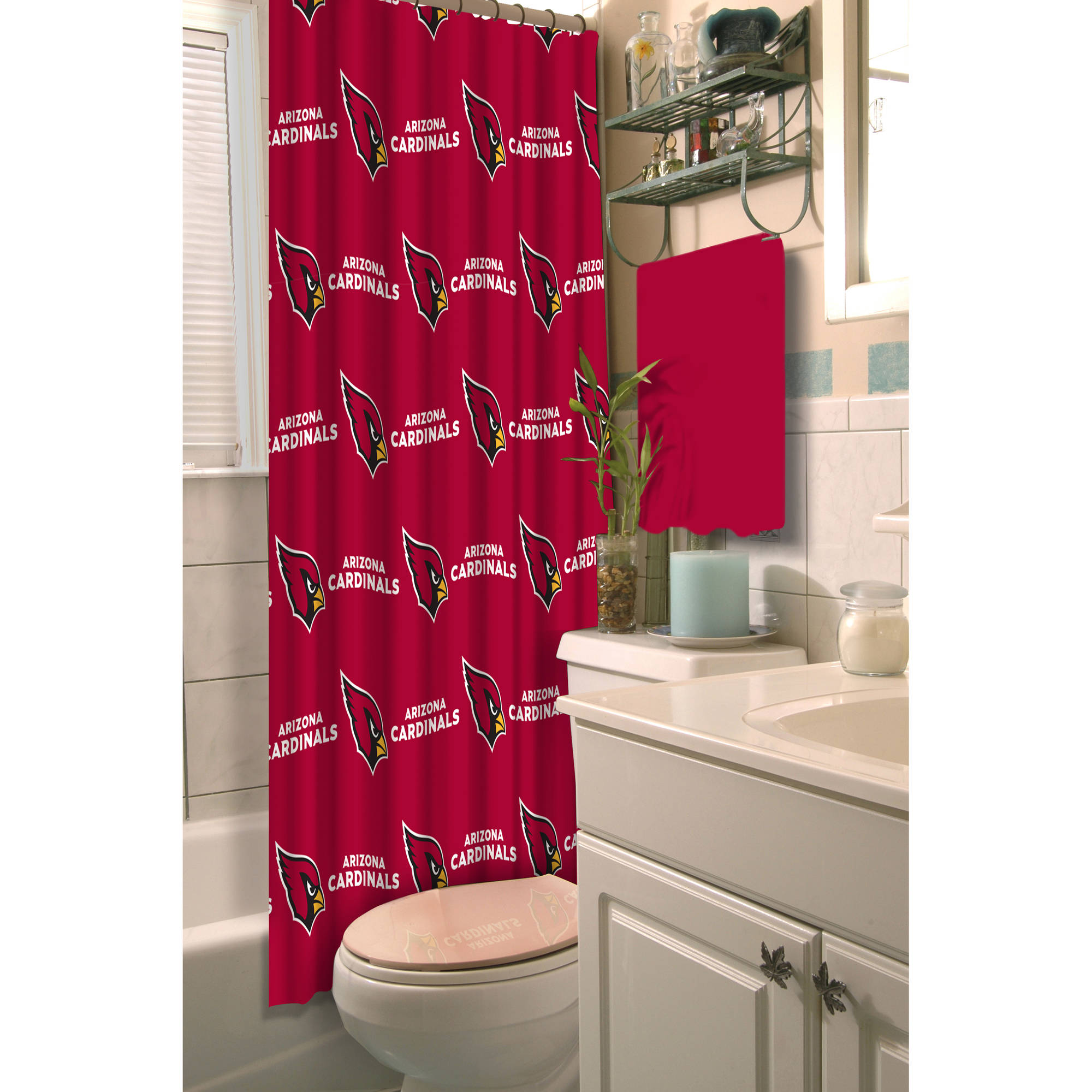 NFL Arizona Cardinals Decorative Bath Collection Shower Curtain