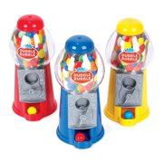 """JoyAbit  CLASSIC GUMBALL BANK  7""""  include 23 gumballs .doubles as a coin bank (3 colors may vary )Great Gift for Boys & Girls and Carnival Parties,"""
