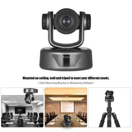 Aibecy HD Video Conference Cam Camera Full HD 1080P Auto Focus 20X Optical Zoom with 3.0 USB Cable Remote Control for Business Live Meeting Recording Training - image 7 de 7