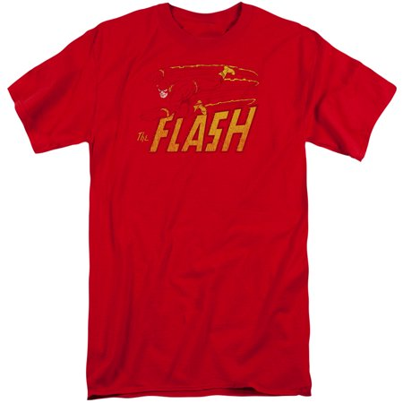 Dc Comics Flash Speed Distressed Mens Big And Tall Shirt