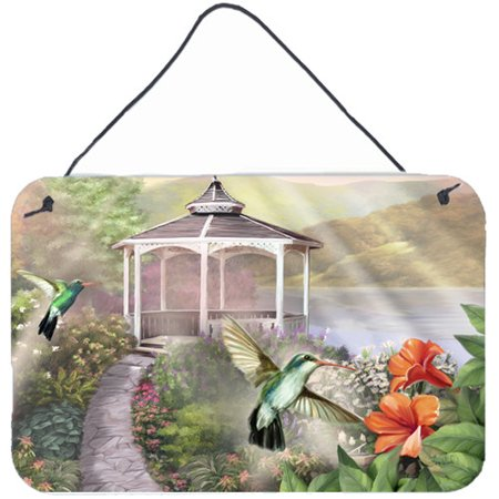 Caroline's Treasures Garden Gazebo Hummingbird Duo by Tom Wood Painting Print Plaque
