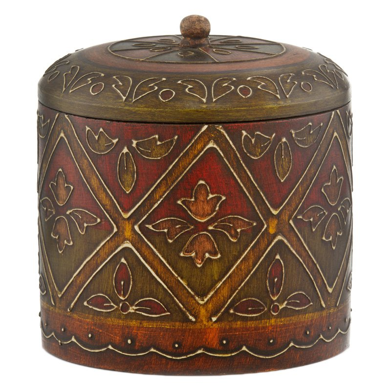 Modern Day Accents Rafaga Colorburst Round Covered Jar