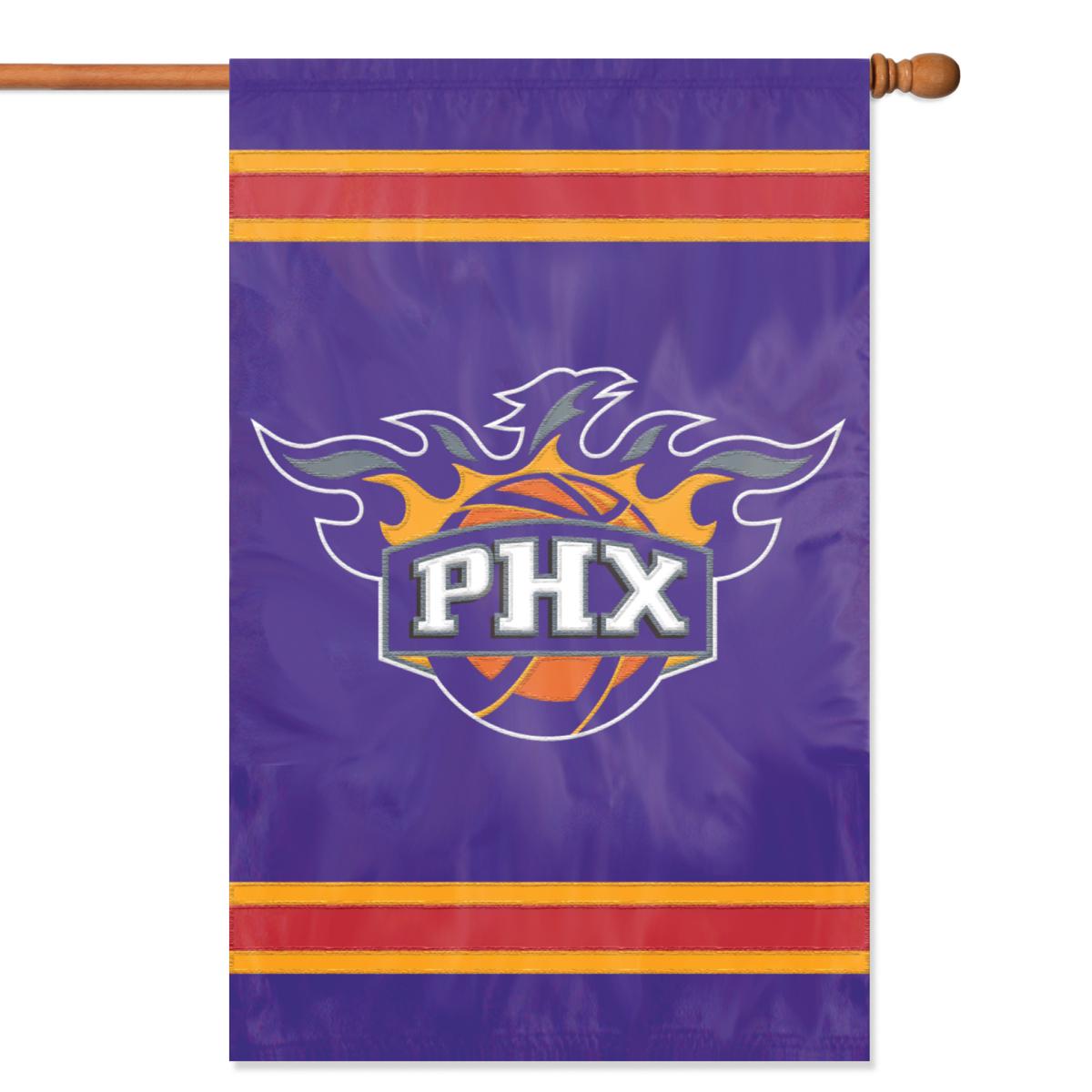 "PHOENIX SUNS 44""x28"" 2-SIDED BANNER FLAG"