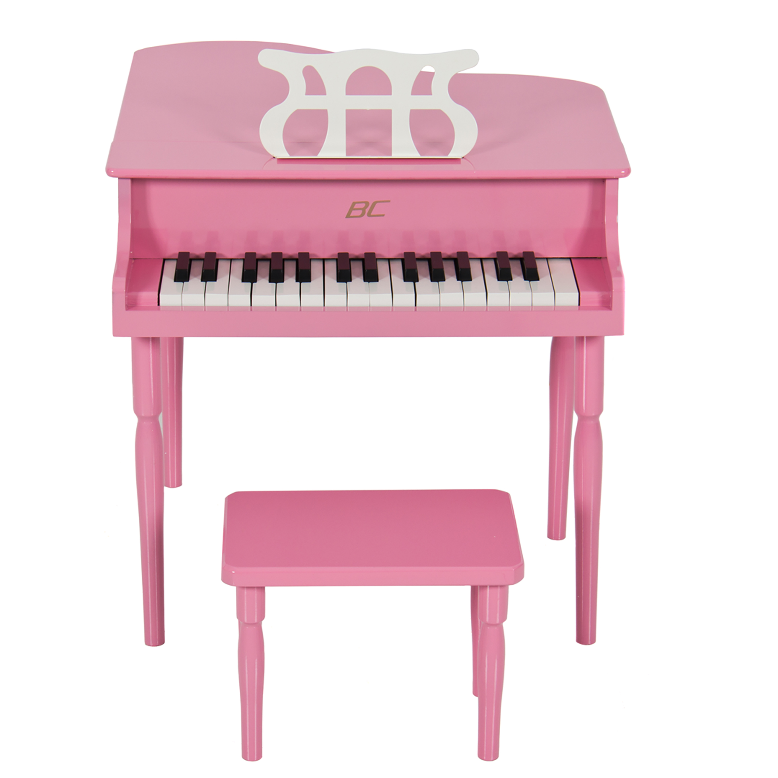 best choice products childs grand baby piano with kids bench of solid wood  construction