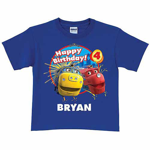 Personalized Chuggington Brewster and Wilson Birthday Toddler Boy T-Shirt, Royal Blue