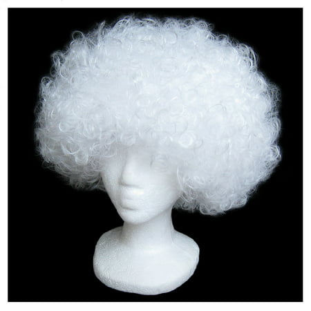 SeasonsTrading Economy White Afro Wig - Halloween Costume Party Wig - Afro Wig