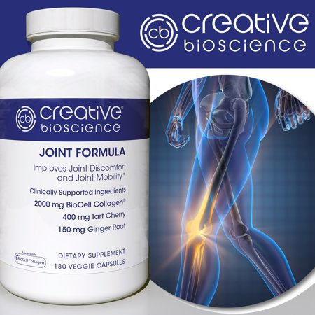 Creative Bioscience Joint Formula With Biocell Collagen 180 Veggie Capsules