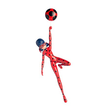 Miraculous 7.5-Inch Jump and Fly Ladybug Action Doll