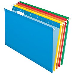 Office Depot Reinforced Hanging File Folders, 8 1/2in. x 11in., Letter Size, Assorted Colors, Pack Of 6, OD415215ASST (Office Depot Nearby)