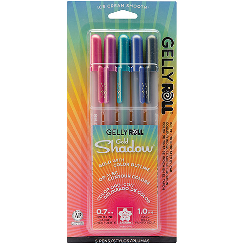 Sakura Gelly Roll Shadow Pens, 5/pkg