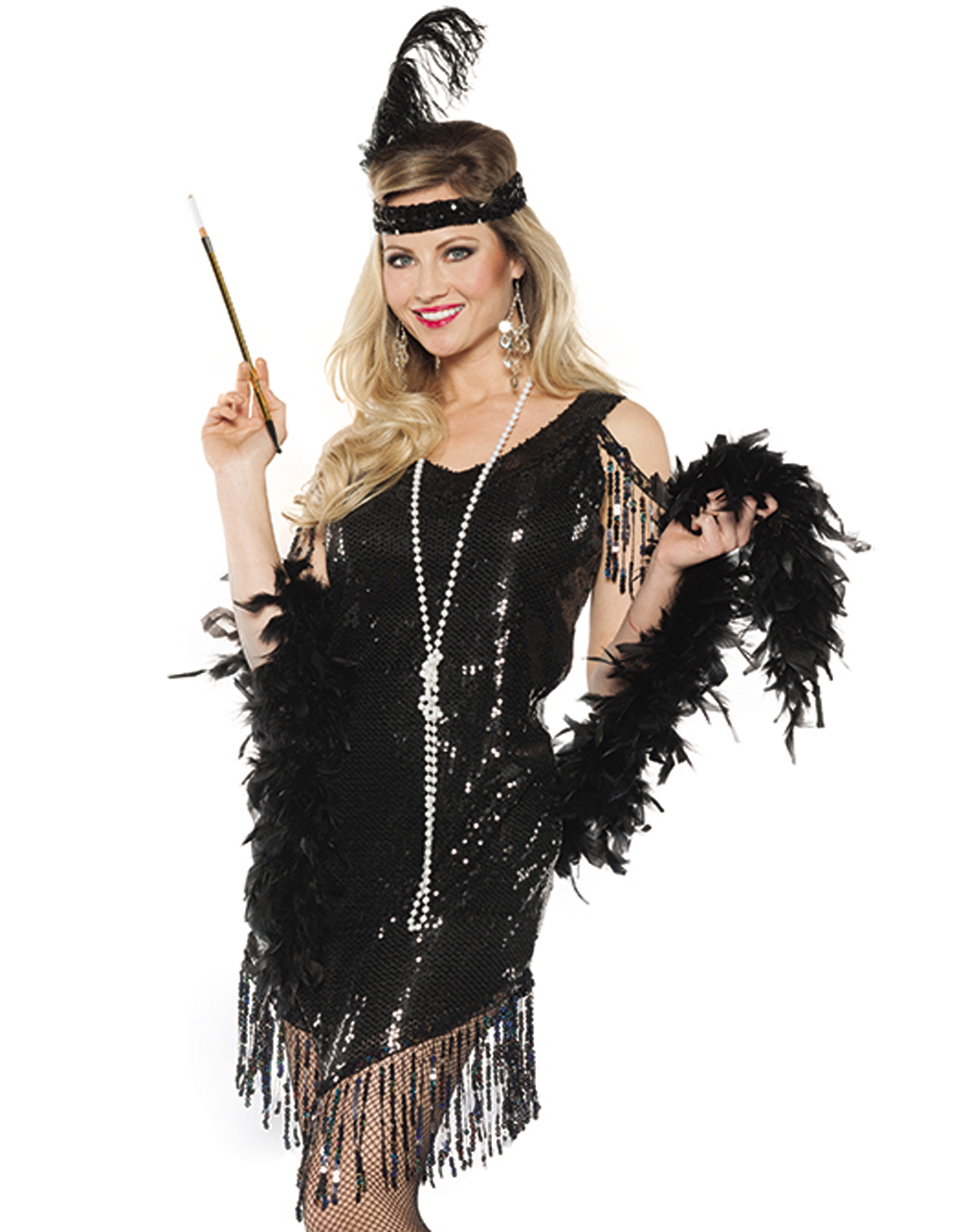 Black Sequined Swinging Flapper Dress 20u0027s The Great Gatsby Halloween Costume  sc 1 st  Walmart & Black Sequined Swinging Flapper Dress 20u0027s The Great Gatsby ...