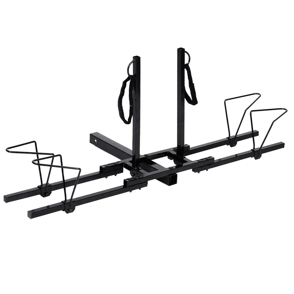 Costway Upright Heavy Duty 2 Bike Bicycle Hitch Mount Carrier Platform Rack Truck SUV by Costway