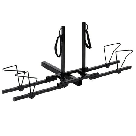 Costway Upright Heavy Duty 2 Bike Bicycle Hitch Mount Carrier Platform Rack Truck SUV ()