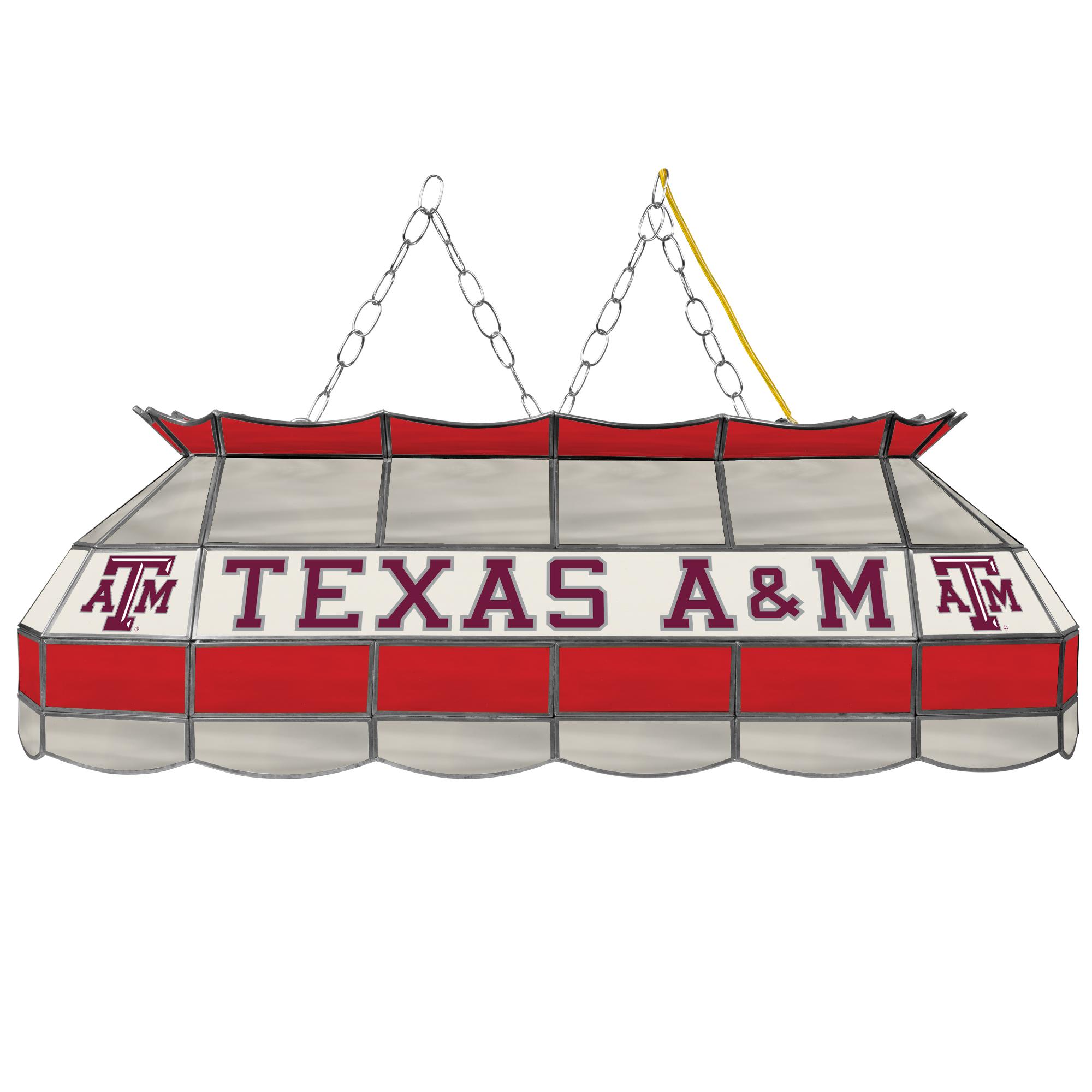 "NCAA Texas A&M University 40"" Stained Glass Billiard Table Light Fixture"