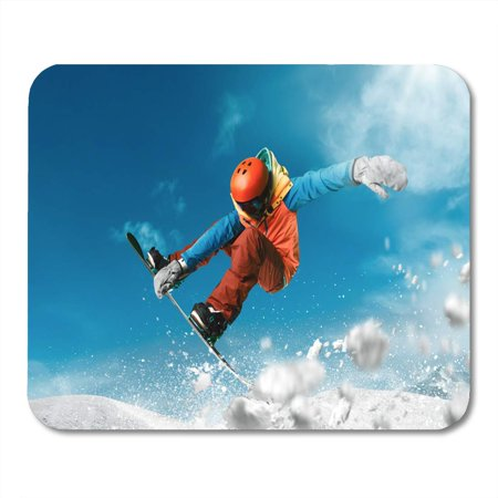 SIDONKU Extreme Snowboarding Sport Mountain Snow Snowboard Freestyle Winter Mousepad Mouse Pad Mouse Mat 9x10 inch