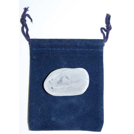 RBI Worry Stone Pocket Size Rose Quartz Hold For Stress Anxiety Relief