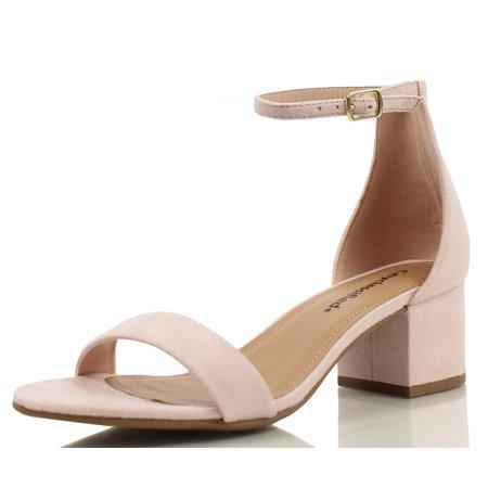7674178271506 City Classified Women's Open Toe Ankle Strap Chunky Block Heel ...