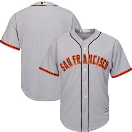 - San Francisco Giants Majestic Official Cool Base Jersey - Gray