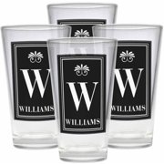 Personalized Family Name Pub Glass, Set of 4