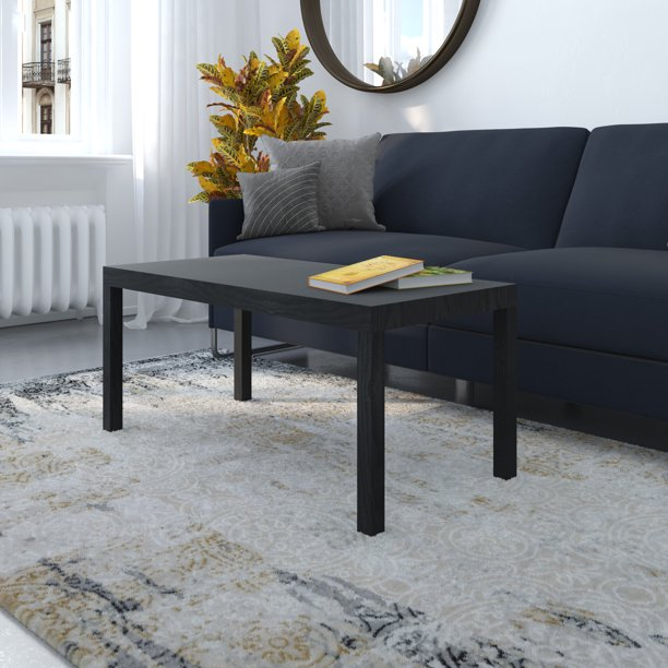 Mainstays Parsons Coffee Table, Black Oak