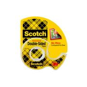 "Scotch Double Sided Tape Dispenser Roll, 1/2"" x 450"", 1 Dispenser"