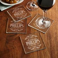 Personalized Decorative Label Glass Coasters
