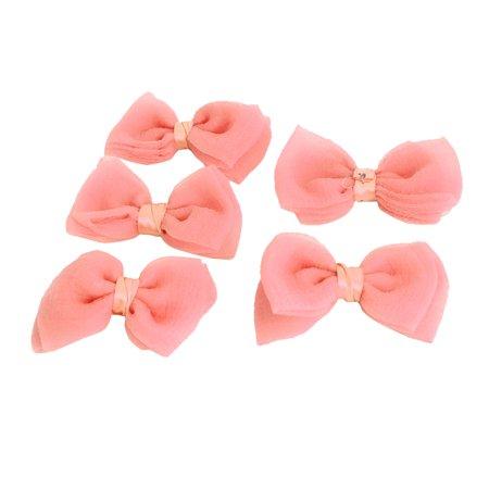 Bowknot Shaped Wholesale Hairclips Appliques Decoration Bows Coral Pink 5 PCS - Punk Wholesale
