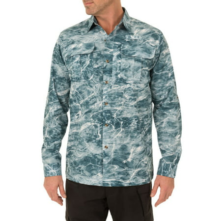 Mossy Oak Fishing Men's Long-Sleeved Performance Guide Shirt (Shimano Fishing Shirts For Men)