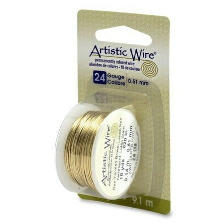Artistic Wire 24-Gauge Non-Tarnish Brass Wire, 10-Yards