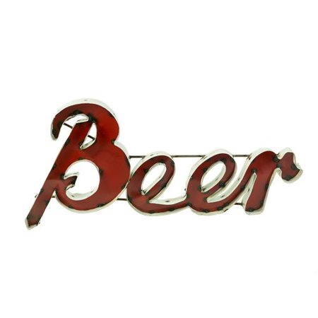 Rustic Arrow Small Beer with Edge Sign Wall D cor
