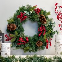 "Belham Living Multicolor Mountain Trail 24"" Christmas Wreath"