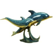 Decmode Polystone Dolphin, Multi Color
