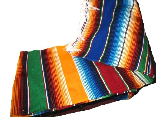 Large Authentic Mexican Blankets Colorful Serape Blankets Assorted, Ship from USA,Brand... by