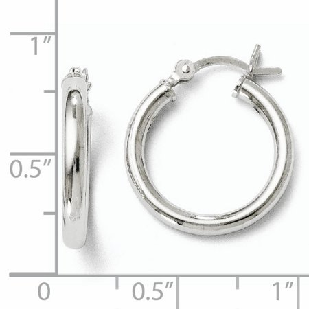 925 Sterling Silver Hinged Hoop Earrings Ear Hoops Set Round Classic Fine Jewelry For Women Gifts For Her - image 2 de 7