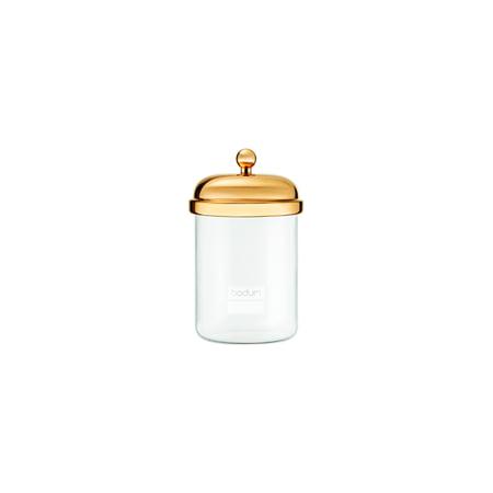 Bodum CLASSIC Storage Jar, 0.5 L, Gold Bodum Glass Storage Jars